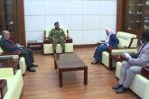 إبراهيم جابر يلتقي رئيس مكتب إتصال الإتحاد الأفريقي بالسودان