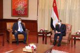 الرئيس المصري يلتقي رئيس مجلس الوزراء حمدوك