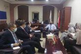 وزير الصحة د.عمر النجيب يستقبل السفير المصري