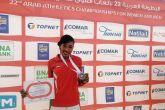 آمنة دولار تحرز فضية ثانية في البطولة العربية بتونس