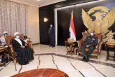 رئيس مجلس السيادة الإنتقالي يلتقي وفد الحزب الإتحادي الديمقراطي