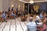 رئيس مجلس السيادة يلتقي وفد الـ(ترويكا)