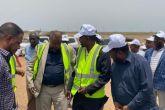 وزير التنمية العمرانية والطرق يدشن أعمال صيانة طريق الخرطوم -مدنى