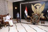 البرهان يلتقي وزير الدولة للشؤون الخارجية الهندي